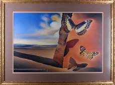 Dali Salvador  Paysage aux papillons  1956