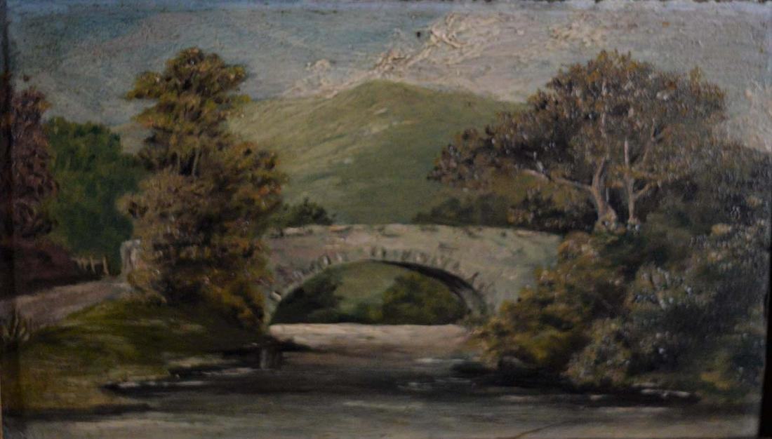École anglaise - Stone Bridge