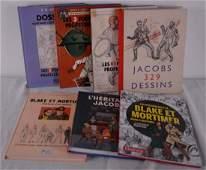 Lot de 7 livres de référence sur Edgar P. Jacobs, Blake