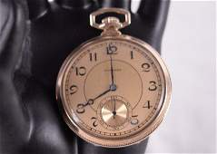 Souvenir pocket watch presented by the owner of the