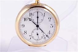 Longines 14k Gold Split Second Chronograph pocket