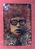 Martin Sharp et Bob Dylan - Blowing in the Wind, poster