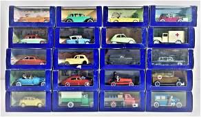 George Rémi, dit Hergé - Lot of 20 different vehicles
