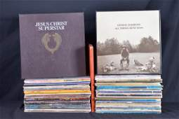 Lot of vinyl 33 rpm, rock music