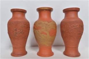 Three vintage modernist pottery vases - 1950-1960