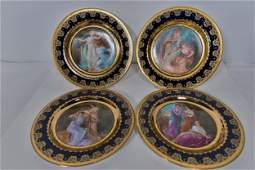 Royal Vienna - Set of 4 plates - c.1900