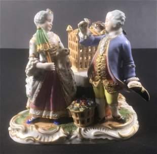 Antique porcelain group - XVIII