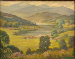 Stockwell, Frank  - Landscape with Lake and Mountain