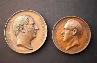 BELGIUM 1852-1856 A Lot of 2 Commemorative Medals
