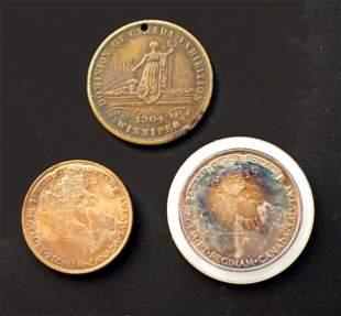 CANADA 1904-1939 A Lot of 3 Commemorative Medals VF-UNC