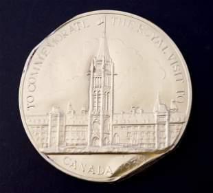 CANADA 1939 Royal Tour Souvenir Chocolate Medal 89 mm.