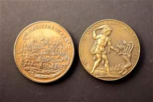 FRANCE 1553-1572 A Lot of 2 Medals Commemorating