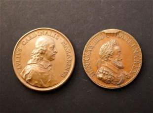 FRANCE 1601-1630 A Lot of 2 medals Commemorating