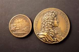 FRANCE 1660-1672 A Lot of 2 Louis XIV Commemorative