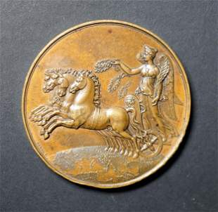 FRANCE 1820 Subscription Society Medal by Barre AE-50