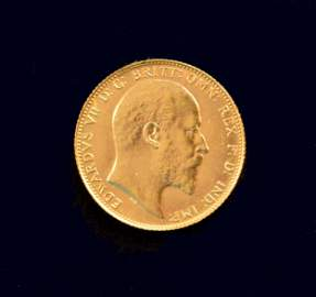 CANADA 1908 C One Pound (Sovereign) KM# 14 Gold Coin