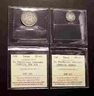 """Lot of Two Pieces British Colonial """"Anchor"""" Money 1822"""