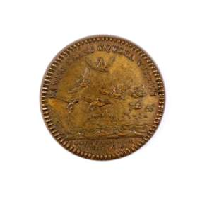 France - Copper Jeton Col. Franc. De L'Am. 1758 EADEM