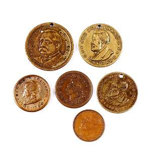 USA Lot of Six Tokens, Campaign Medals etc.