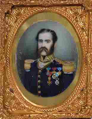 Albanesi, Michele - Miniature portrait of an officer -