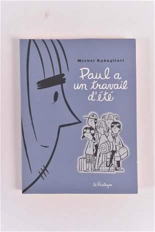 Rabagliati, Michel - Paul comic with original drawing -