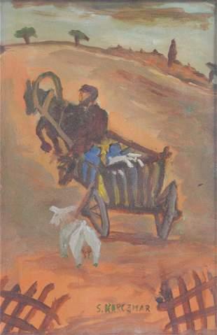 Karczmar, Simon Natan  - Man with cart