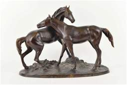 Mêne, Pierre-Jules - Deux chevaux