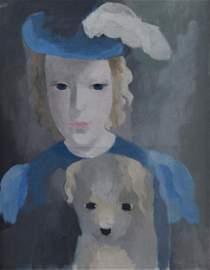 Laurencin, Marie  - Jeune fille avec un chien