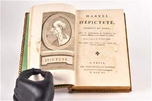�pict�te - Manuel d'�pict�te, traduit du grec - 1790