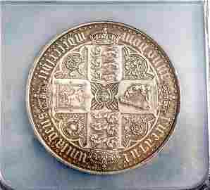 GREAT BRITAIN 1847 Gothic Crown Proof AU