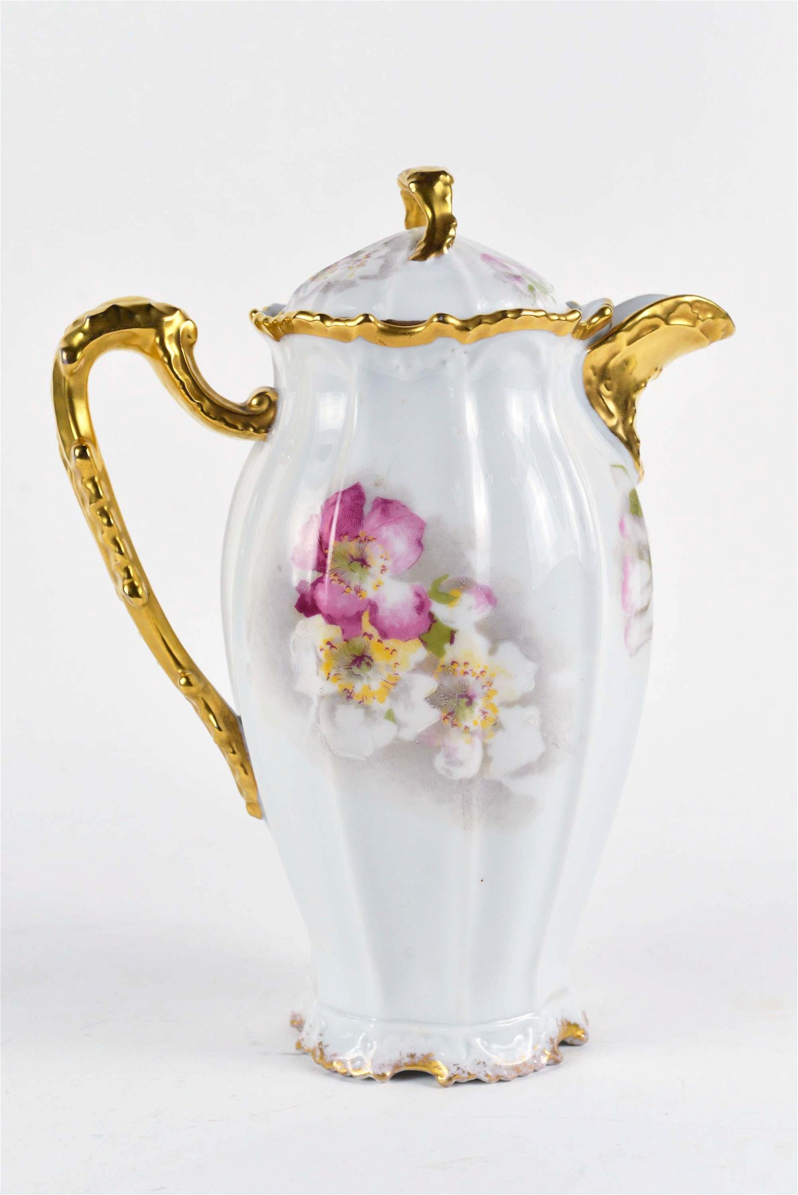 Coronet Limoges - Old hand painted porcelain chocolate