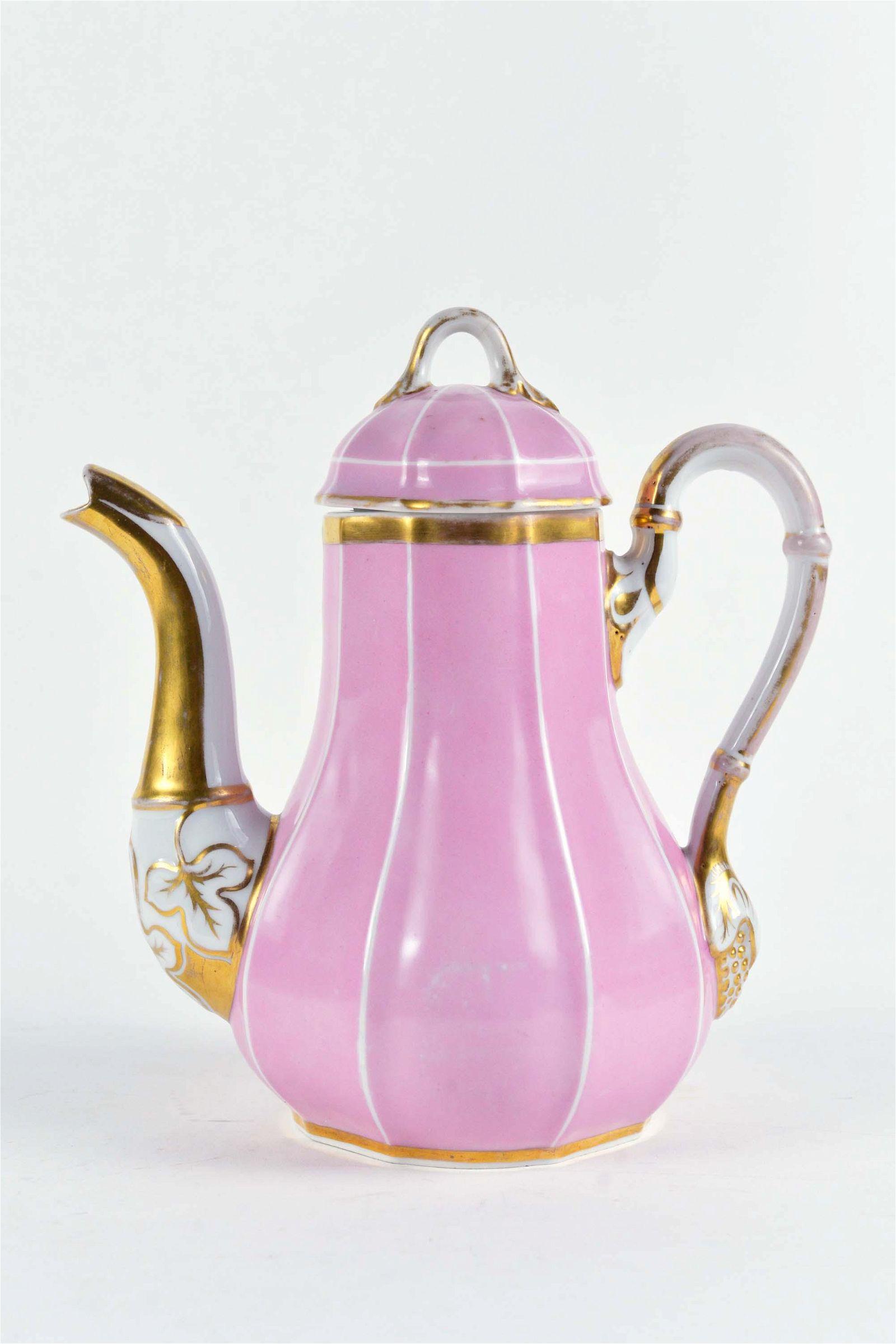 Hand painted porcelain coffee pot - c.1920