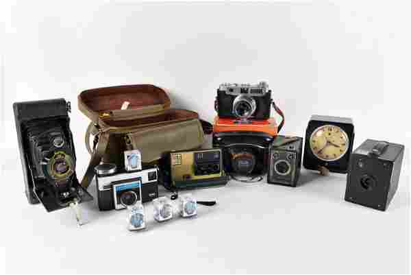 Lot of old cameras