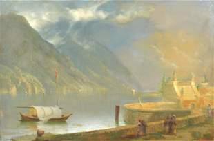 Unterberger, Franz Richard - Barque près du quai