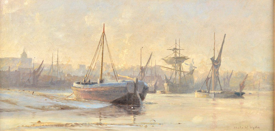 Wyllie, Charles William - Boats at Rochester