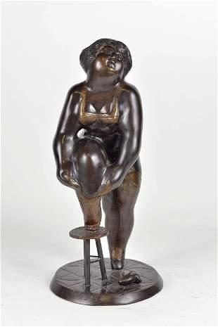 Botero, Fernando (D'après) - Femme au soulier