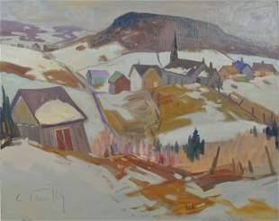 Tremblay, Louis - Village en hiver