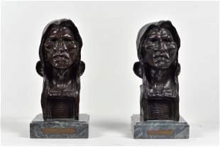 Remington, Frederic - Pair of bronze sculptures,