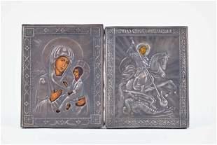Sheviakov, Alexandr Timofeyevitch - Two silver icons -