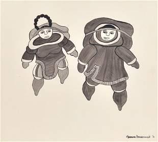 Arnaktauyok, Germaine - Two Inuits - 1970