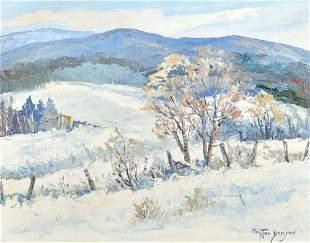 Bergeron, Christian - Paysage en hiver