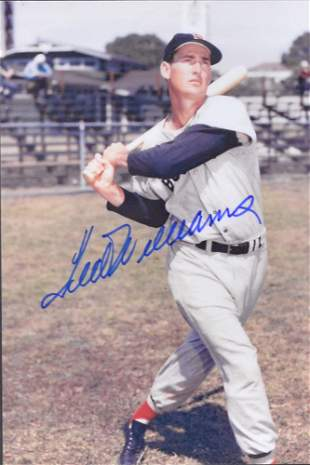 Autographed photograph of Ted Williams