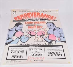 1985 World Heavyweight Championship poster - 1985