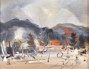 Dufour, Marcellin - Paysage en hiver - 1978