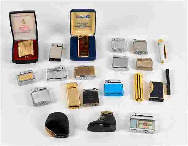 Lot of vintage pocket lighters