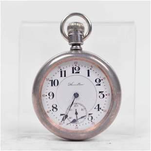 Hamilton - Antique silver pocket watch - c.1880
