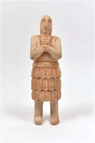 Man with beard, sumerian art