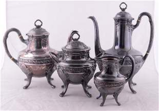 Paul Devaux - .950 silver tea set - C.1915