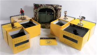 Régis Loisel - Set of lead Peter Pan figurines with