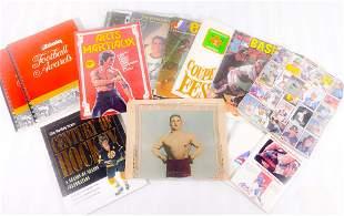 Lot of vintage sport documents
